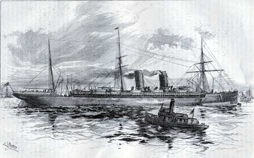 The Cunard Steam Ship Company Steamer Etruria