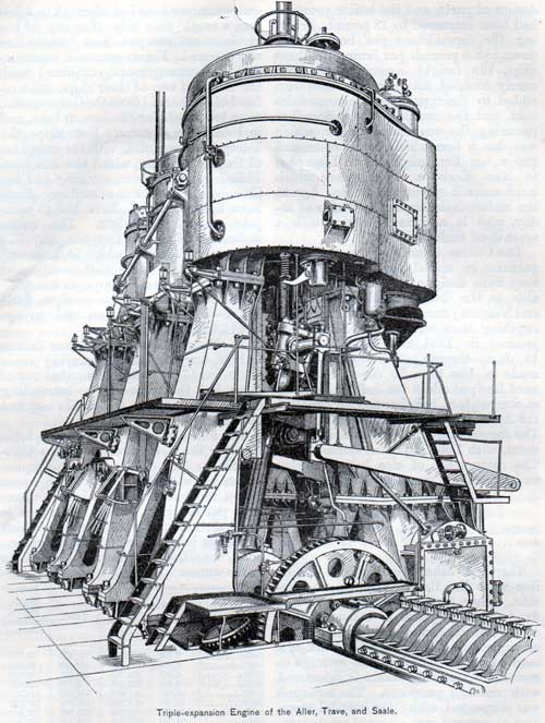 Triple-expansion Engine of the Aller, Trave, and Saale.