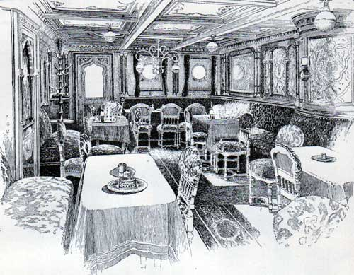 Smoking Room of a French Liner circa 1890