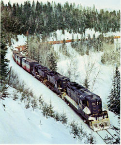 Aroostook Railroad offers the new Piggyback services - 1968 Annual Report