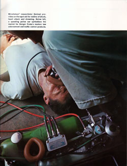 Minuteman resuscitator provides on-the-spot aid for victims of shock, heart attack and drowning. 1968 Annual Report