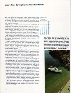 Leisure Time: Serving Growing Recreation Markets - 1968 Annual Report