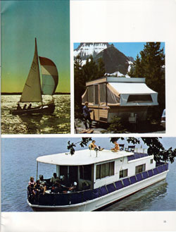 O'Day Fiberglass Sailboat, Starcraft Camper and Seagoing Houseboats - 1968 Annual Report