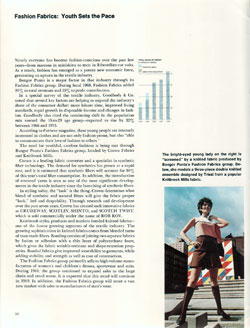 Fashion Fabrics: Youth Sets the Pace - 1968 Annual Report