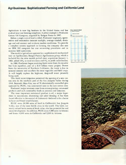 Agribusiness: Sophisticated Farming and California Land - 1968 Annual Report
