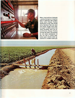 Irragation Ditch in California's San Josquin Valley - 1968 Annual Report