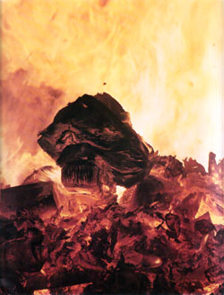 Flaming Refuse forms a pyre in New Massachusetts Incinerator - 1968 Annual Report