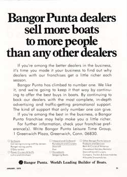 Bangor Punta dealers sell more boats to more people than any other dealers - 1970 Print Advertisement