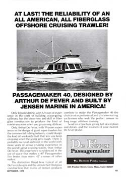1973 De Fever Passagemaker 40 All Fiberglass Offshore Cruising Trawler