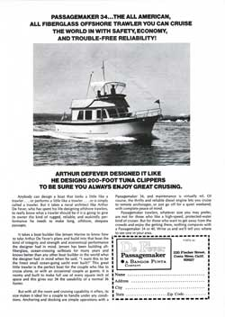 1974 Passagemaker 34: The All American, All Fiberglass Offshore Trawler