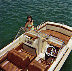 Girl Relaxing on a DUO Vagabond Boat