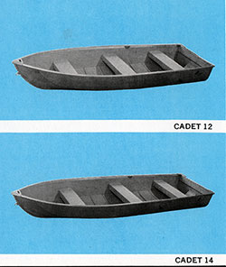 DUO Cadet 12 and Cadet 14 Fishing Boats (1971)