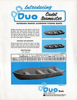 DUO Cadet and Seamaster Fishing Boats (1971)