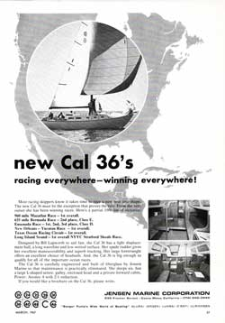 The New CAL 36's - Racing Everywhere, Winning Everywhere - 1967 Print Advertisement.