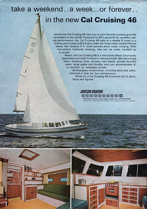 The new Cal Cruising 46 Yacht - 1967 Print Advertisement