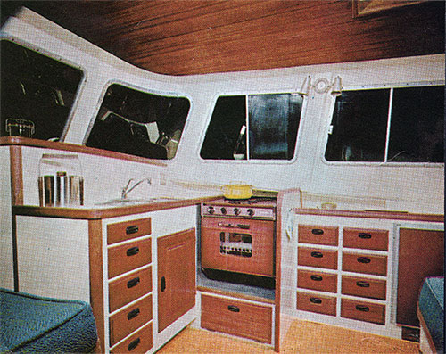 View of the Galley on the Cal Cruising 46 Yacht
