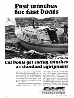 1969 CAL boats get racing winches from Barlow as standard equipment