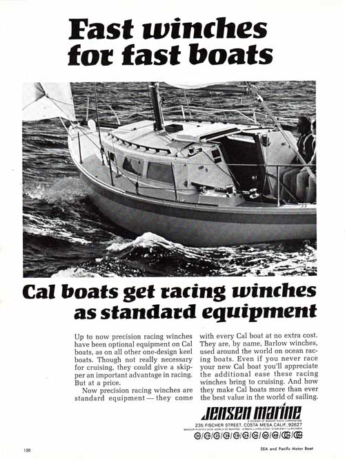 CAL Boats by Jensen Marine get Racing Winches as Standard Equipment