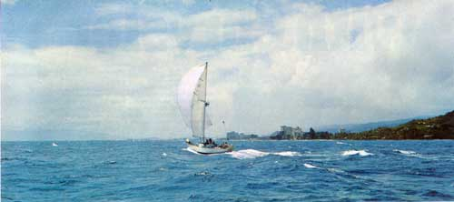 The Cal 40 Yacht Out Cruising the Islands of Hawaii