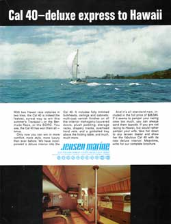 CAL 40 Yacht - Deluxe Express to Hawaii. 1978 Print Advertisement.