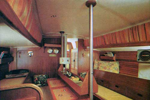 View of the Main Cabin on the CAL 40 Yacht