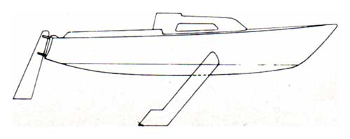 Diagram (Side View) of the CAL 21 Sailboat