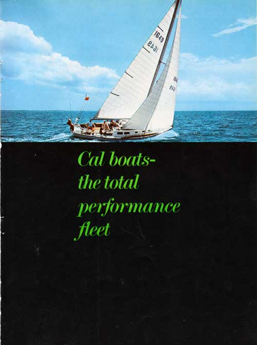 1970 Brochure Cover - CAL Boats - The Total Performance Fleet