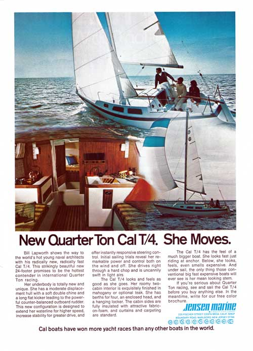 New Quarter Ton CAL T/4. She Moves. 1972 Print Advertisement.