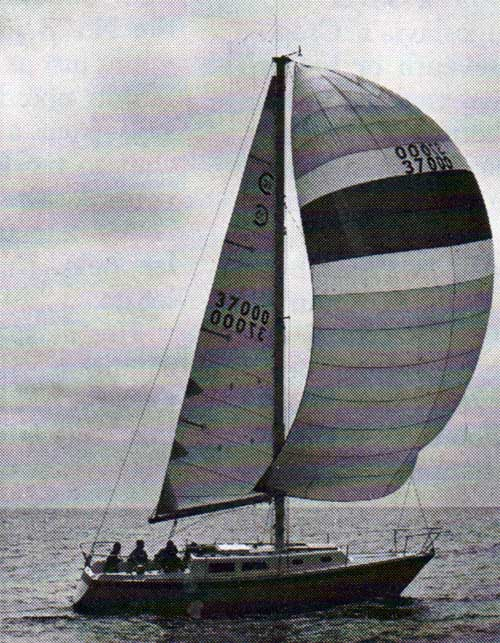 The CAL 33 Yacht Sailing on the Open Seas
