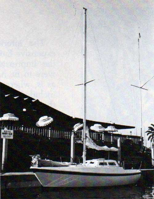 The CAL T/2 Yacht - Docked at the Marina Clubhouse