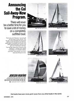 1972 Announcing the CAL Sail-Away-Now Program