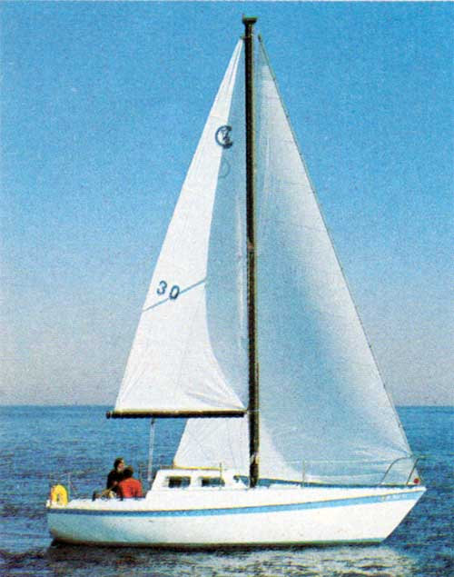 Breezing Along at Full Sails - CAL T-2 Yacht