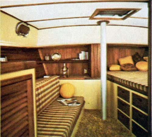 View of Main Saloon on the CAL 2-46 Yacht