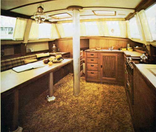 View of Main Cabin including Galley on the CAL 2-46 Yacht