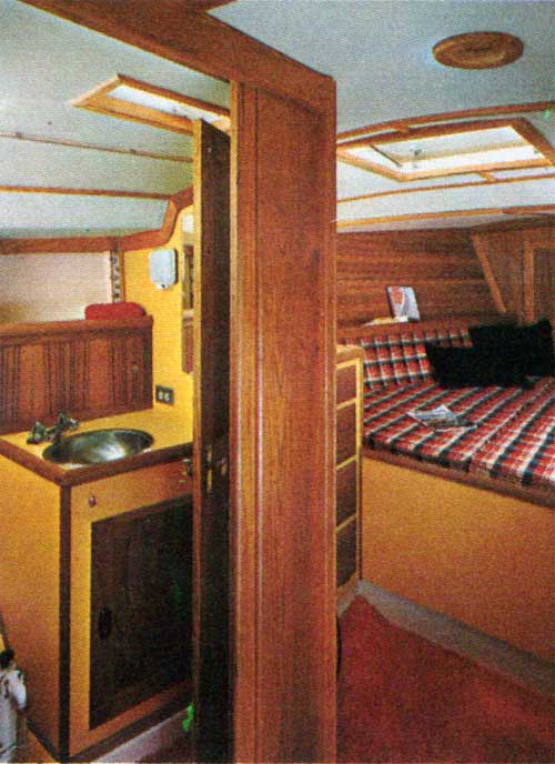 View of the Main Cabin on the CAL 35 Yacht