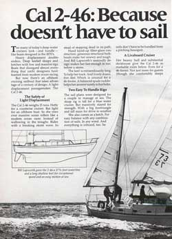 1976 CAL 2-46: Because an offshore cruiser doesn't have to sail like an antique