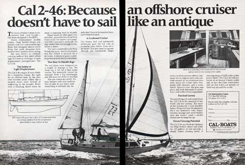 The CAL 2-46 Yacht - 1976 Print Advertisement