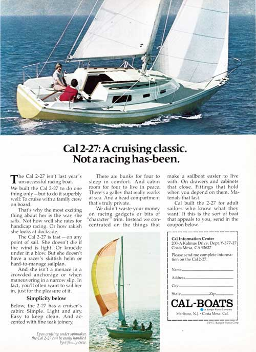 CAL 2-27: A Cruising Classic Yacht - 1977 Print Advertisement.