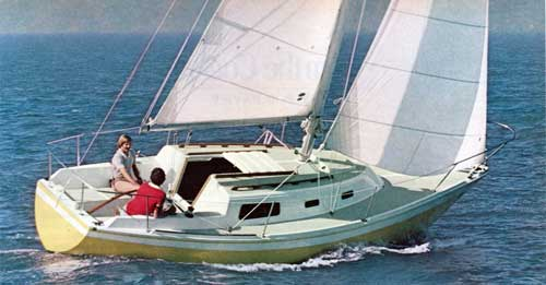Cruising on the Open Waters with a CAL 2-27 Yacht