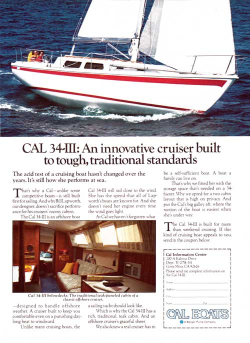 Cal 34-III An Innovative Cruiser