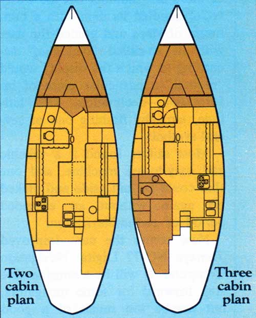 CAL 29 Schematics of Two and Three Cabin Plans
