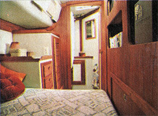 CAL 39 Tri-Cabin Aft Stateroom. 1978 Print Advertisement.