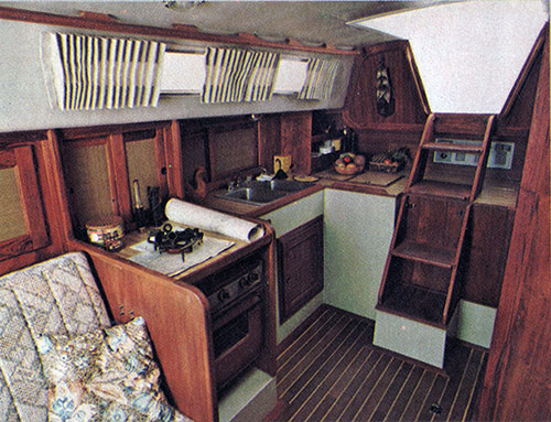 The Tri-Cabin's Compact Galley Design Saves Steps As Well As Space