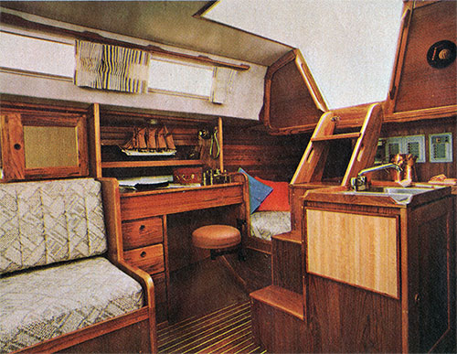 The Cal 39 Twin-Cabin's Practical Layout Features a Complete Navigator's Station and Spacious Quarter Berth
