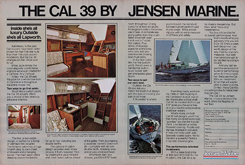 The Cal 39 by Jensen Marine