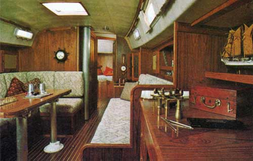 View of the Main Cabin on the CAL 39 Yacht