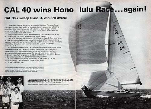The Jensen Marine CAL 40 Wins the Honolulu Transpac Race - 1967