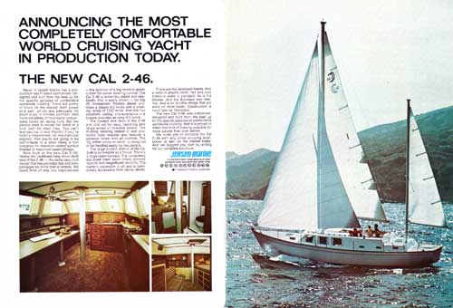 The New Cal 2-46 Yacht - 1972 Print Advertisement