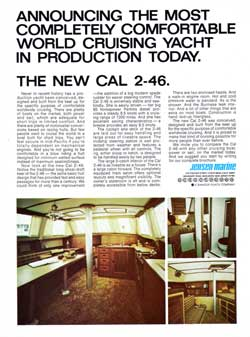 1972 CAL 2-46 - The Most Completely Comfortable World Cruising Yacht