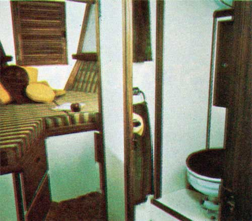 Heat and Foward Cabin on the Cal 2-46 Yacht